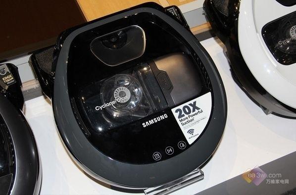 智能清洁完美清理死角三星展真空扫地机器人【生活热点】